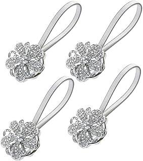 Sycle cirkel magnetische gordijn Tie Backs, decoratieve bloem kristal gordijn Holdbacks voor slaapkamer, woonkamer, kantoor