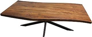 Kreativa Wohnen Table de salle à manger Virgil en bois d'acacia 2 x 1 m