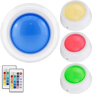 BIGLIGHT Push Lights, RGB Touch Lights, Battery Operated Closet Light, Wireless Tap Light, LED Puck Lights, Remote Control...