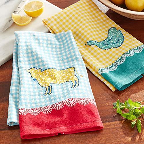 PW The Pioneer Woman Animals Kitchen Towel 2 Piece Set