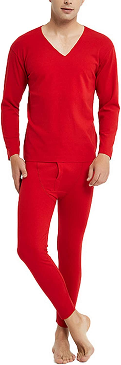 Legou Men's Thermal Underwear Constant Temperature Long Johns Set with Fleece Lined