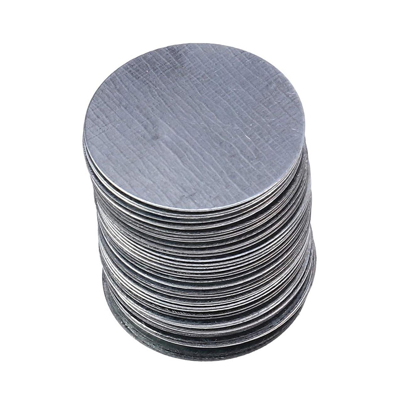 シェル人気の弾丸Lurrose 非磁気アイシャドウパンメイクアップパレットの使用のための100ピースラウンド金属ステッカー
