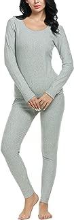 Anboer Baser Layer 2PCS Thermal Sets Womens Lightweight Underwear Soft Knit Top & Bottom S-XXXL