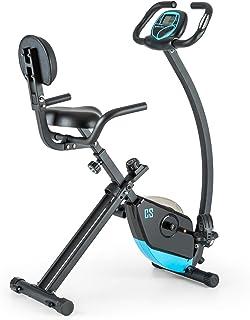 Capital Sports Trajector Bicicleta estática ergómetro plegable (Volante de 1,4 Kg, 8 niveles resistencia, pulsómetro, moni...