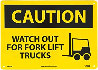 Nice Safety Warning Signs Legend Caution - Watch Out for Fork Lift Trucks. 12 x 8 inches Warning Signs.