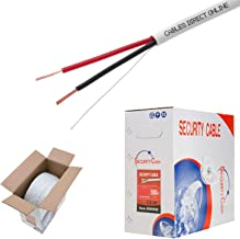 Cables Direct Online, Bulk 22/2 Solid Conductor Alarm Control Cable 500ft Fire/Security Burglar Station Wire Security (Unshielded), 22/2, Solid, 500ft)