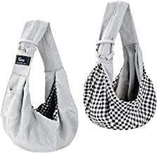 Cuby Dog and Cat Sling Carrier – Hands Free Reversible Pet Papoose Bag –..