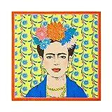 Talking Tables- Confezione da 20 Carta Gialli con Stampa Frida Kahlo | Tovaglioli USA e Getta, Decorazioni messicane, Forniture per Feste di Compleanno Boho, Cinco De Mayo, Decoupage, Napkin