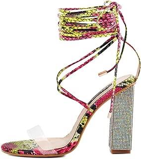 red diamante high heels