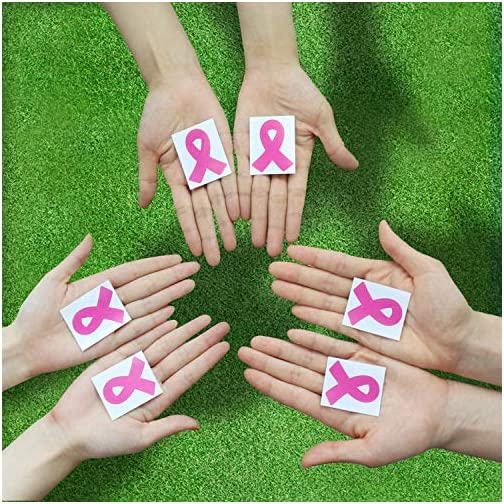 288pcs Die Cut Pink Ribbon Stickers Breast Cancer Awareness Stickers, Official Breast Cancer Helmet Decals |