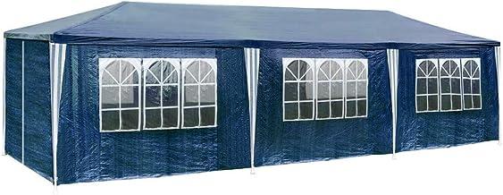 TecTake 800085 - Carpa Pabellón de Jardín, Tienda de 9x3m, Ideal para Eventos y Fiestas (Azul | No. 400935)
