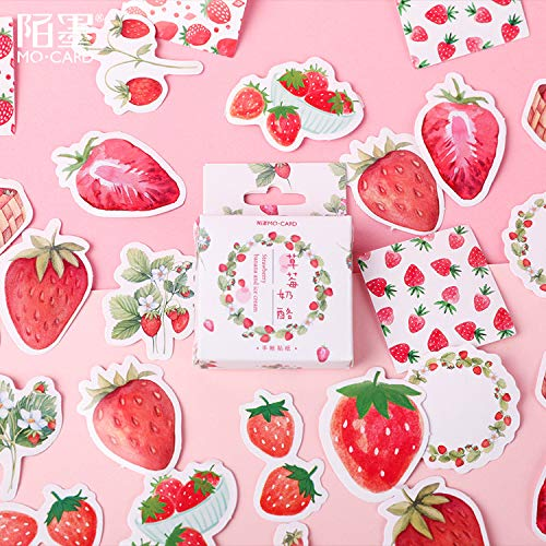 Bureze Aardbei Kaas Mini Papier Sticker Decoratie DIY Ablum Dagboek Scrapbooking Label Sticker Kawaii Japanse briefpapier Stickers