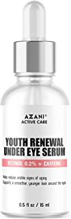 Azani Active Care Youth Renewal Eye Serum - 15 ml for Dark Circles & Puffiness that Reduces Eye Bags, Crows Feet, Fine Lin...