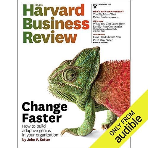 Accelerate! (Harvard Business Review)                   By:                                                                                                                                 John P. Kotter                               Narrated by:                                                                                                                                 Todd Mundt                      Length: 33 mins     2 ratings     Overall 5.0