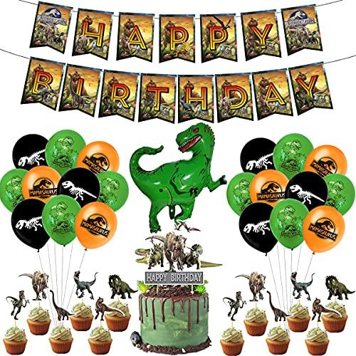 Miotlsy Globos de Dinosaurio Set ,Juego de decoración de cumpleaños de dinosaurio, Globos de Dinosaurios para Cumpleaños,Selva Decoracion Dinosaurios Cumpleaños para Niño