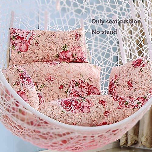 DJ hangmat voor stoel, rugleuning in de vorm van honingraatvorm, van katoen, met kussen voor de tuin, 60 x 50 x 58 cm, 24 x 20 x 23 cm