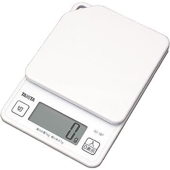 タニタ キッチンスケール はかり 料理 デジタル 1kg 1g単位 ホワイト KD-187 WH