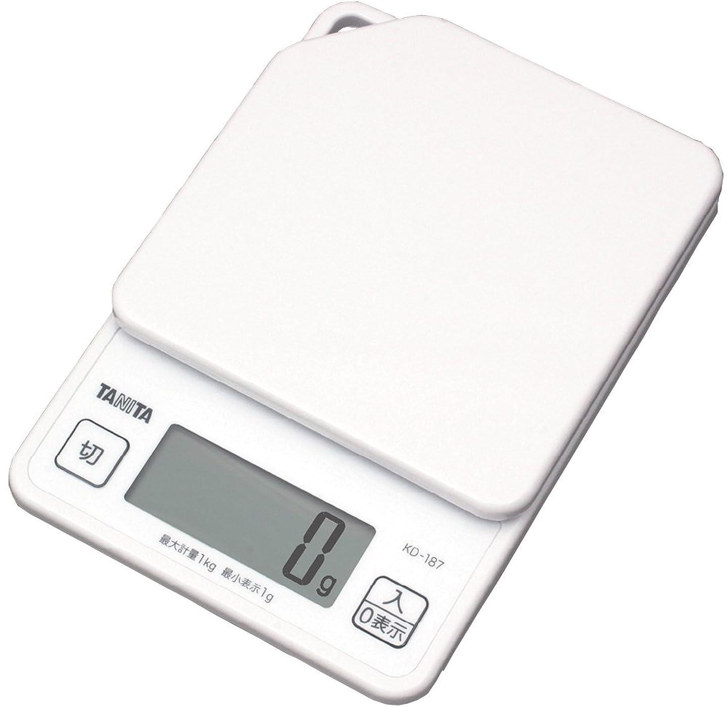 燃やす起業家復活させるタニタ はかり スケール 料理 1kg 1g デジタル ホワイト KD-187 WH