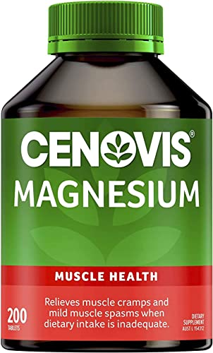 Cenovis Magnesium Tablets - Supports bone health and healthy muscle contraction, 200 Tablets