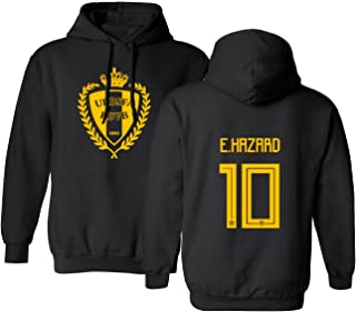 Tcamp Belgium 2018 National Soccer #10 Eden Hazard World Championship Men's Hooded Sweatshirt