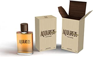 Aquarius Absolute pour Homme Eau De Toilette Spray Perfume, Fragrance For Men- Daywear, Casual Daily Cologne Set with Deluxe Suede Pouch- 3.4 Oz Bottle- Ideal EDT Beauty Gift for Birthday, Anniversary