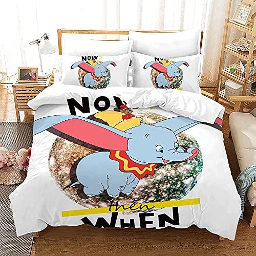 AZWZDM Juego de ropa de cama Disn-ey para niños con diseño de anime, funda de edredón y fundas de almohada, impresión 3D, juego de ropa de cama de 3 piezas (Sonic4,135 x 200 cm + 50 x 75 cm x 2)