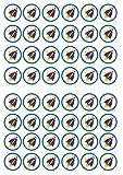 48 cohetes comestibles premium grueso vainilla, papel de arroz para obleas mini magdalenas, pasteles y galletas