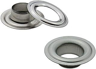Ista Tools Ösen, Öse DIN 7332,Durchmesser 10mm - 16mm, Messing, Stahl, Edelstahl, Planenöse, Banner 50, 12mm Edelstahl V2A