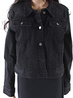 Women's Lace-Up Sleeve Denim Jacket