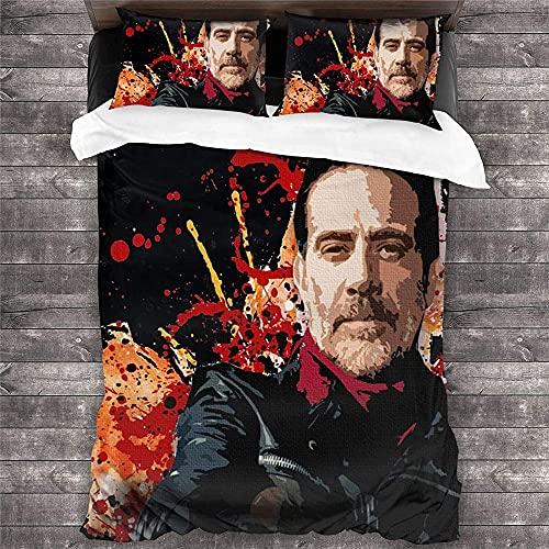 CCBZLY The Walking Dead Juego de funda nórdica de fácil cuidado, de microfibra, con 1 funda nórdica y 2 fundas de almohada, adecuado para todas las estaciones (M7,220 x 240 cm + 2 x 50 x 75 cm)