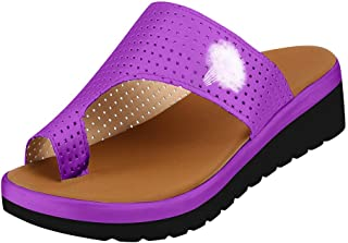 Women Summer Platform Sandal, Bunion Correction Toe Post Bunion Corrective Shoes for Pain Relief Bunion Symptoms Foot Redness Pain and Swelling
