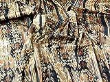 Italienisches gemustert Stretch Baumwolle Satin Kleid