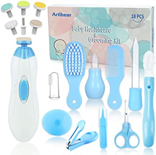Artibear 18-in-1 Baby Healthcare & Grooming Kit, Portable Nursery Care Set Tools for Newborn Boy & Girl, Include Electric ...
