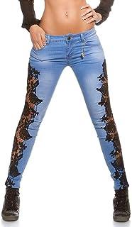 Celucke Jeans Strappati Vita Alta Donna Jeans met/à Vita Elasticizzati Slim Matita Buco Denim Pantaloni Jeans