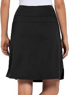 M MOTEEPI Modest Knee Length Skorts Skirts for Women Tennis Athletic Golf Skort with Pockets UV Protection High Waist