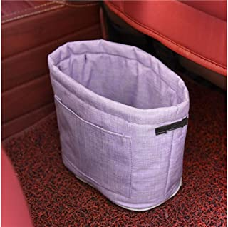 Gelaiken Mini Cup Holder Type Car Trash Can Garbage Bucket Trash Can Black