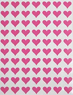 Royal Green Hearts Stickers Pink 0.5 inch (13mm) 1/2