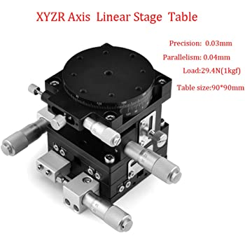 XYZR 4 Axis Linear Stage Trimming Platform Bearing Tuning Sliding Table 60x60mm