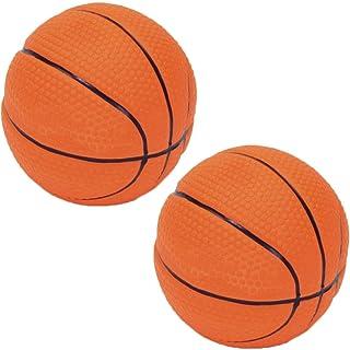 لعبة كرة السلة راسكالز للكلاب من اللاتكس مقاس 6.35 سم مع مصدر لأصوات الزقزقة (وحدتين) من كوستال بت