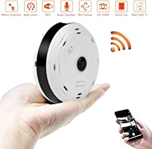 BlueHills White Compact Security Camera for Ceiling or Walls HD 1080P Night Vision Motion Detector & Two-Way Audio - Monitor Front-Door Home Business Kids Baby Dog Cat & Pets with App in Cell Phone