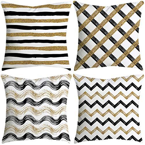 FeiliandaJJ 4PCS Kissenbezug, kissenhülle Kopfkissenbezug Home Dekoration Pillowcase Super weich Sofakissen für Wohnzimmer Sofa Bed,45x45cm (K)