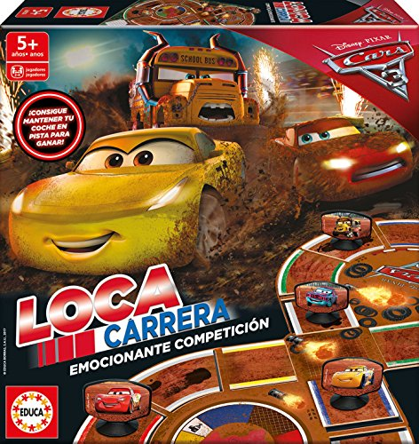 Cars Juego Carrera Loca, 37.1 x 27.2 x 5.6 (Educa Borrás 17210)