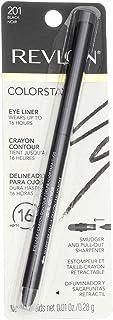 Revlon ColorStay Eyeliner Pencil, Black [201], 0.01 oz (Pack of 4)