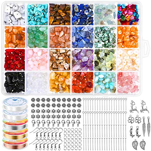 Crystal Jewelry Making Kit with 24 Colors Crystal Beads - Cludoo 1516Pcs Crystal...