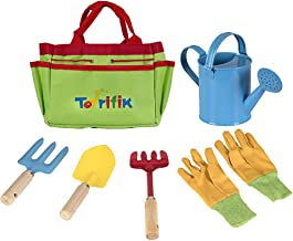Little Gardener Tool Set with Garden Tools Bag for Kids Gardening - Kit Includes Watering Can, Children Gardening Gloves, ...
