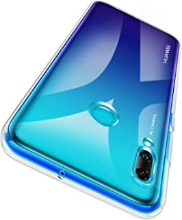 Garegce skyddsfodral för Huawei P Smart 2019 + skärmskydd i härdat glas, stötfångare skydd för Huawei P Smart 2019