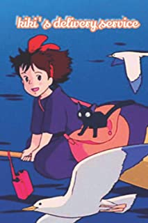 Kiki's delivery service notebook ; anime notebook ; Majo no takkyūbin notebook for girls, boys and kids ; gift for anime l...