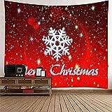 KnBoB Tapiz Pared Decorativo Copo Nieve Merry Christmas 300 x 260...