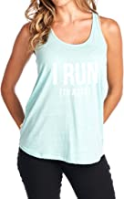 Tough Cookie's Women's Flowy Triblend I Run to Jesus Tank Top (Made in USA)