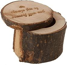 Tinksky Wooden Ring Box Rustic Wedding Ring Holder Bearer